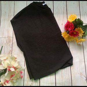 ZARA Basics Crop Top Size S Black Women's